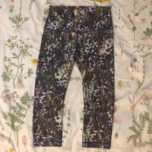 Lululemon 8 floral print leggings pants